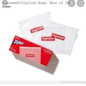 3 Supreme box logo ziplock bags